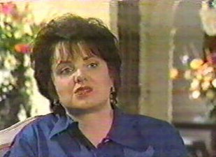 [Patsy Ramsey, Screen Capture from 'JonBenet's America' August 5, 1998]