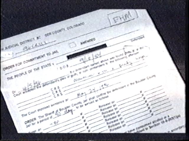 [Police file shown on screen showed case number and birthdate matching John Stephen Gigax]
