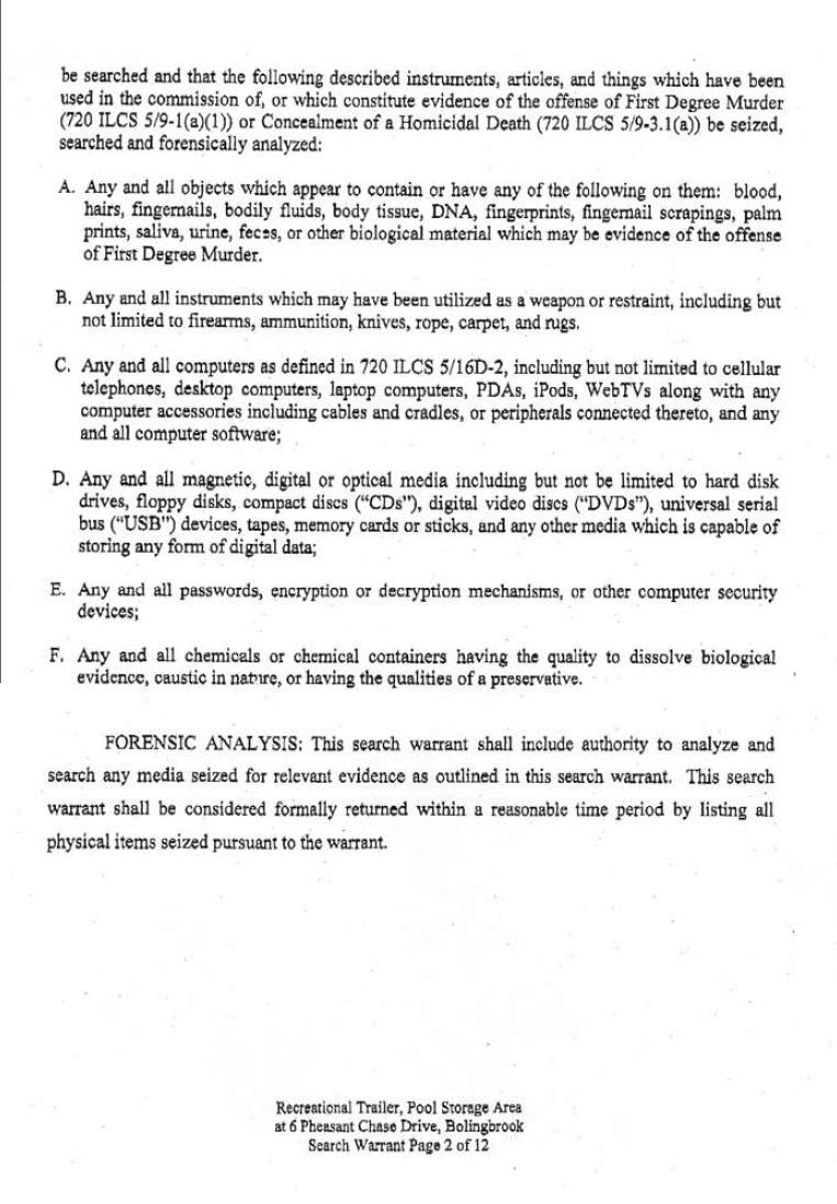 [11-01-2007 Search Warrant Page 2]