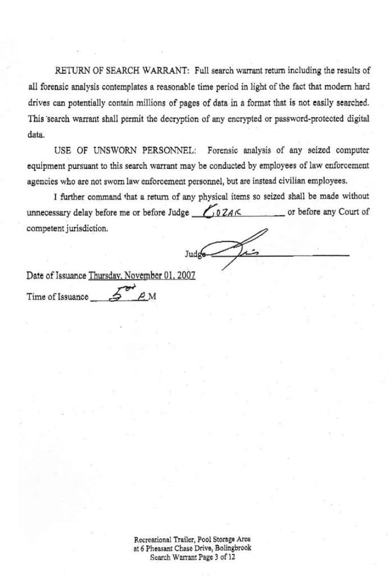 [11-01-2007 Search Warrant Page 3]