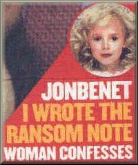 [Nancy Ransom Note Writer - aka 'No7ThirdPlace' and 'I KNOW' - She said the ransom note was part of 'sick brain's' book titled 'The Perfect Murder' - To Nancy only, S.B.T.C. stands for 'So Be The Cause']
