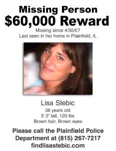[Lisa Stebic Reward Poster from www.findlisastebic.com]