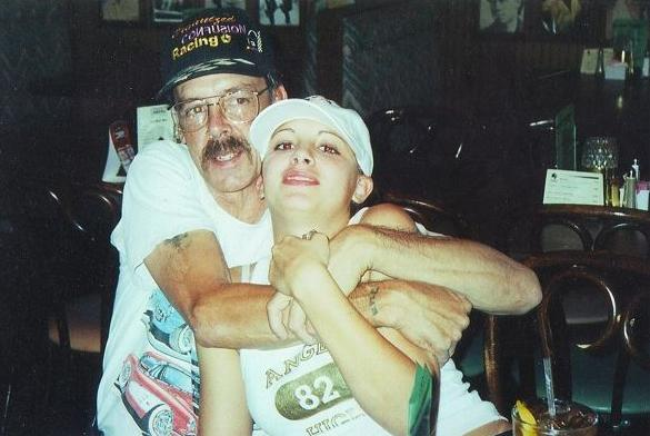 [Stacy Peterson and her father, Anthony Cales]