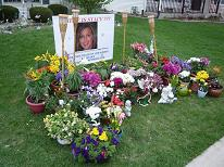 [Statues and Flowers sent to Sharon Bychowski's house in Bolingbrook for Stacy Peterson' Garden of Hope]