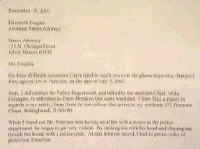 [Kathleen Savio's letter dated November 12, 2002 to the Illinois States Attorney with a plea for help against Drew Peterson]