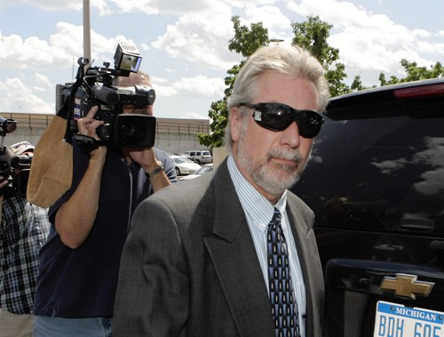 [Drew Peterson leaves the Will County Courthouse on Monday. (Tribune photo by Terrence Antonio James / July 14, 2008)]
