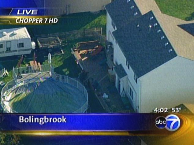 [6 Pheasant Chase Court, Bolingbrook, Will County, Illinois - Screen capture from Screen capture from ABC7 Chicago]