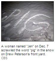 [Jen thinks Drew Peterson is a complete PIG - Screen capture found at http://cbs2chicago.com/]
