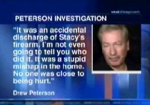 [Off camera quote by Drew Peterson]