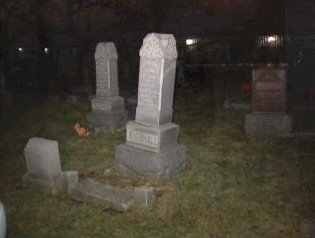 [Lyonsville Cemetery at Indian Head Park - Screen capture from http://www.myfoxchicago.com/]