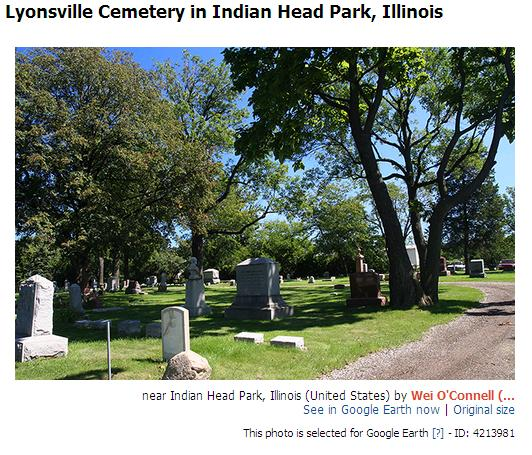 [Lyonsville Cemetery at Indian Head Park]