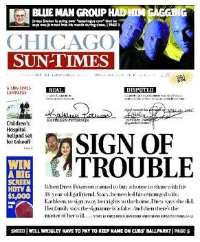 [Chicago Sun-Times Cover 01/25/2008]