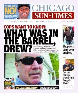 [Drew Peterson on the cover of Chicago Sun-Times]