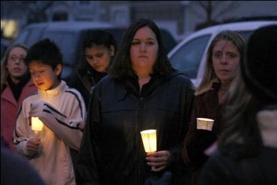 [November 17, 2007 Candle Light Vigil Walk For both Stacy Peterson and Kathleen Savio at 4:00 P.M.]