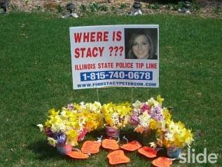 [Beautiful fresh flowers that 'sonia' at www.findstacypeterson.com picked for Sharon Bychowski to sit by Stacy's sign]