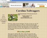 [Casey Parsons webpage on 'Carolina Tailwaggers']