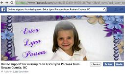 [Online Support Event For missing teen Erica Lynn Parsons from Rowan County, NC]