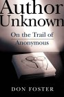 [Author Unknown: On the Trail of Anonymous]