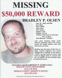 [Bradley P. Olsen Missing Person Poster - Reward $50,000]