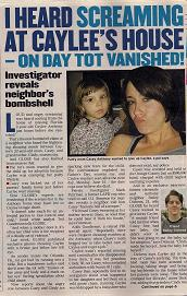 [GLOBE ARTICLE 'I Heard Screaming at Caylee's House - On Day Tot Vanished' 09-01-2008]
