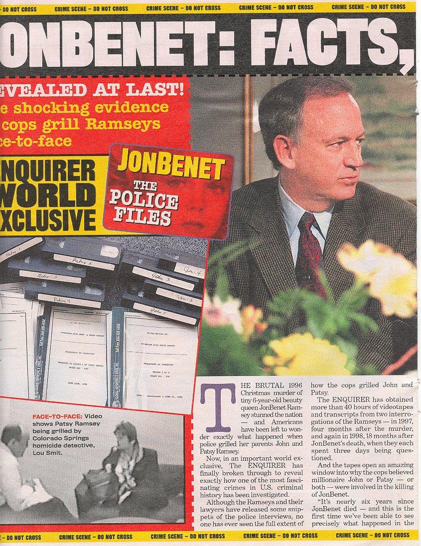 Jonbenet Ramsey Crime Scene