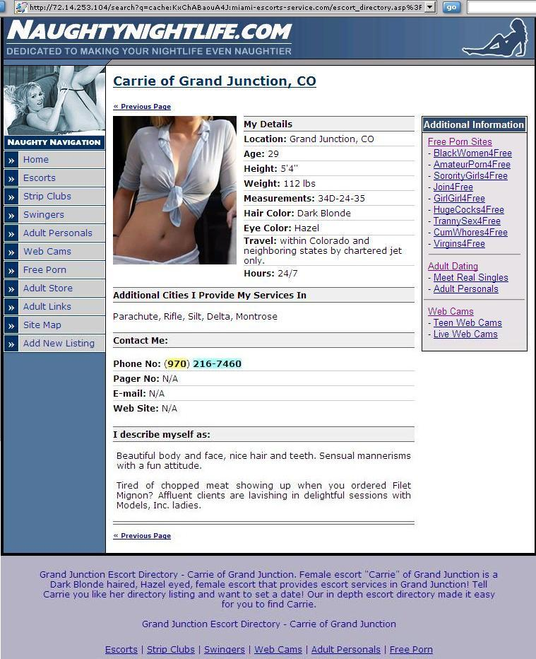 WARNING ADULT WEB SITE ADS Customer Reviews on Carrie - Models Inc